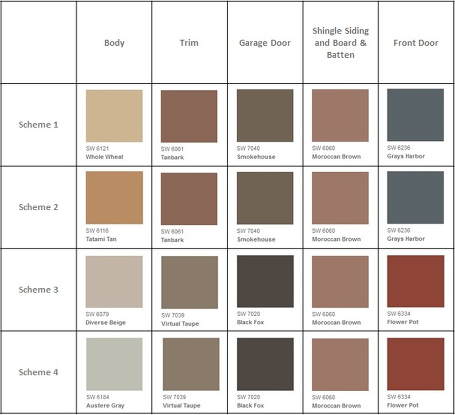 Exterior Paint Colors Tamarack Village In Redmond Ridge